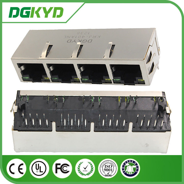 Multi Port RJ45 Integrated Magnetics 8P8C Pcb Mountable Communication