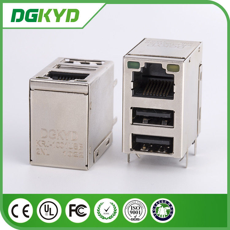 10 / 100 / 1000 Base Single Port RJ45 USB Connector Tab Up Transformer for Network Switch